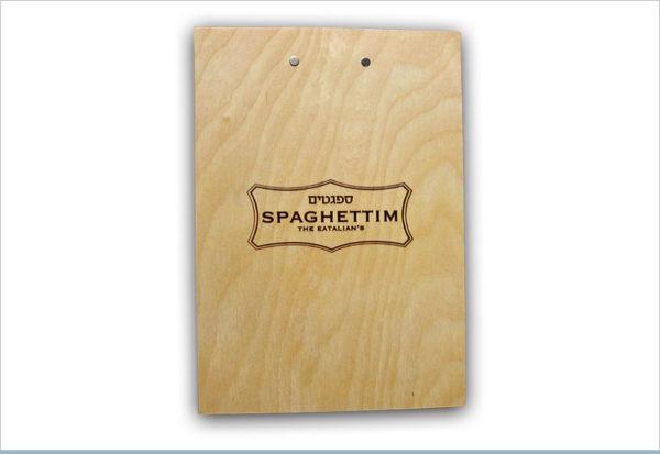 תפריט למסעדות ספגטים